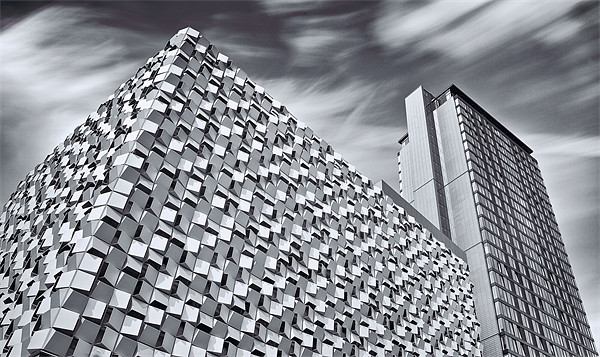 Sheffield Cheesegrater Car Park Framed Mounted Print by David Yeaman