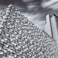 Buy canvas prints of Sheffield Cheesegrater Car Park by David Yeaman