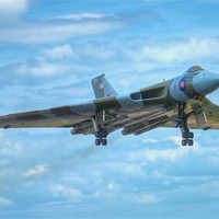Buy canvas prints of Vulcan Bomber by David Yeaman