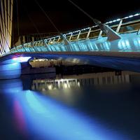 Buy canvas prints of Bridge at Media City by David Yeaman