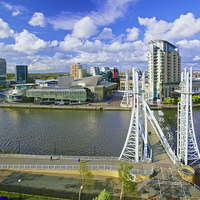 Buy canvas prints of Salford Quays by David Yeaman