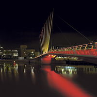 Buy canvas prints of Imperial War Museum, Salford Quays by David Yeaman