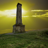 Buy canvas prints of  Peel Monument at Dusk by David Yeaman