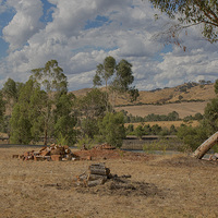 Buy canvas prints of Landscape at Strath Creek, Victoria by Pauline Tims