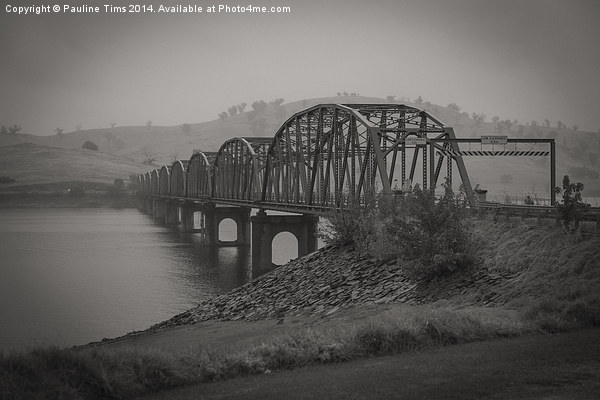 Bethanga Bridge, Albury, NSW Canvas print by Pauline Tims