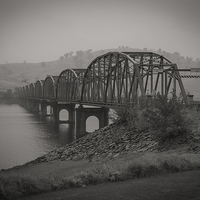 Buy canvas prints of Bethanga Bridge, Albury, NSW by Pauline Tims