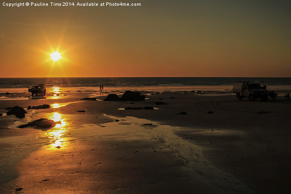 Sunset at Broome Western Australia Canvas print by Pauline Tims