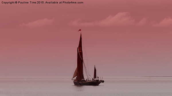 Red Sails at Sunset Canvas print by Pauline Tims