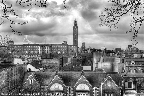 Norwich citys memory Canvas print by Jordan Browning Photography