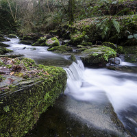 Buy canvas prints of  Waterfall at St Nectans Glen by Alan Strong