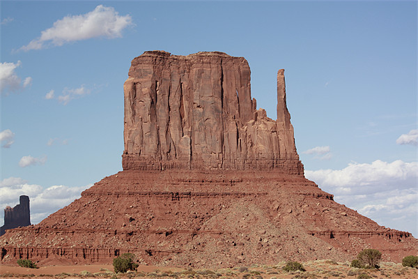 Monument Valley Mittens Canvas print by Julie Ormiston