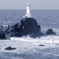 Buy canvas prints of Corbiere Lighthouse by Julie Ormiston