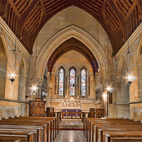 Buy canvas prints of St James The Great Titsey - Nave by Dave Godden