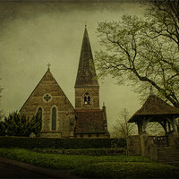 Buy canvas prints of St James The Great Titsey by Dave Godden