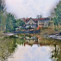 Buy canvas prints of The Friars Aylesford by Dave Godden