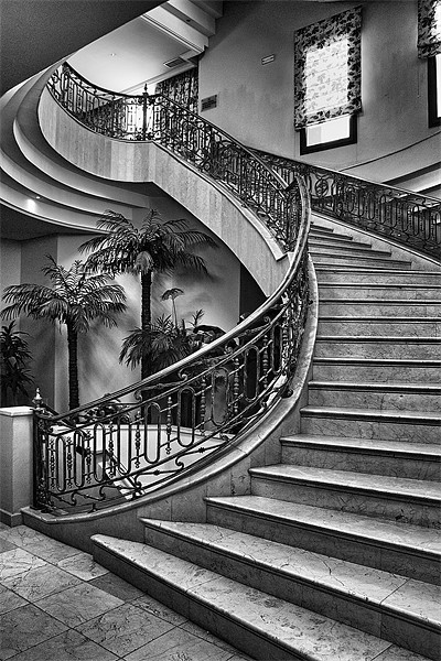 Spanish Stairs Canvas print by Dave Godden