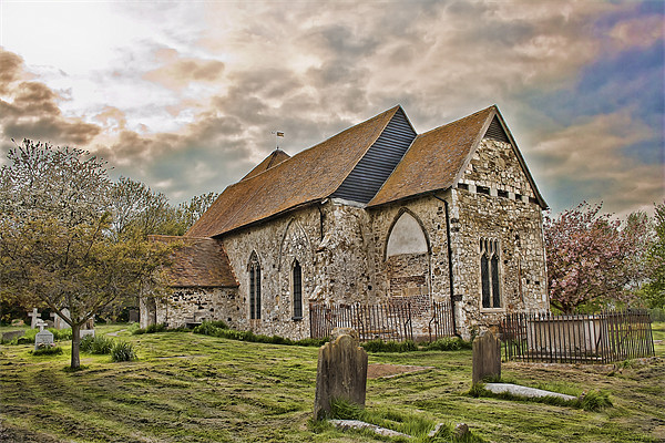 St Mary Kenardington Canvas print by Dave Godden