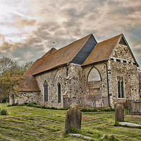 Buy canvas prints of St Mary Kenardington by Dave Godden