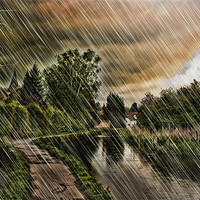 Buy canvas prints of Storm Arrives At Loose by Dave Godden