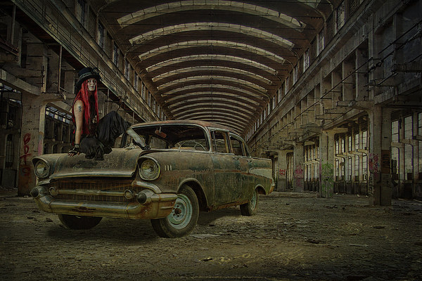 Decayed Canvas print by Dave Godden