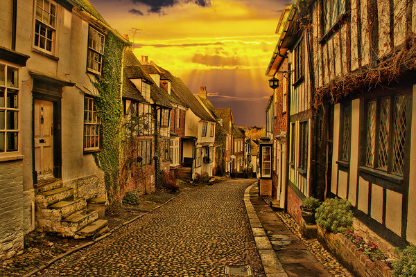 Mermaid Street Rye Canvas print by Dave Godden