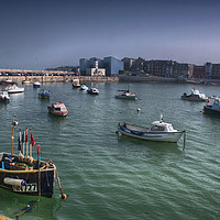 Buy canvas prints of Margate Harbour From The Harbour Arm by Dave Godden