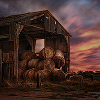 Buy canvas prints of The Bale Barn by Dave Godden