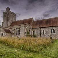Buy canvas prints of St Cosmos and St Damian Challock by Dave Godden