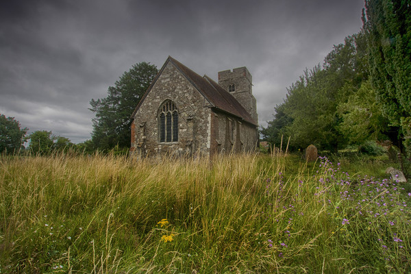 St Mary Old Church Burham Canvas Print by Dave Godden