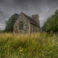 Buy canvas prints of St Mary Old Church Burham by Dave Godden