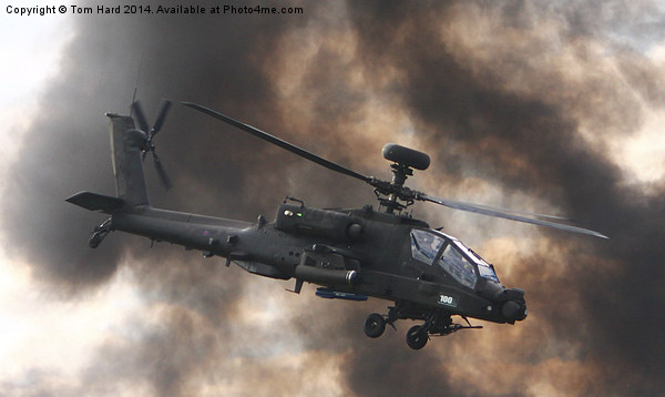 Apache Attack Helicopter Canvas print by Tom Hard