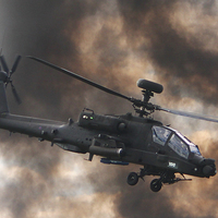 Buy canvas prints of  Apache Attack Helicopter by Tom Hard