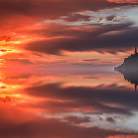 Buy canvas prints of Mont Saint Michel by Tom Hard