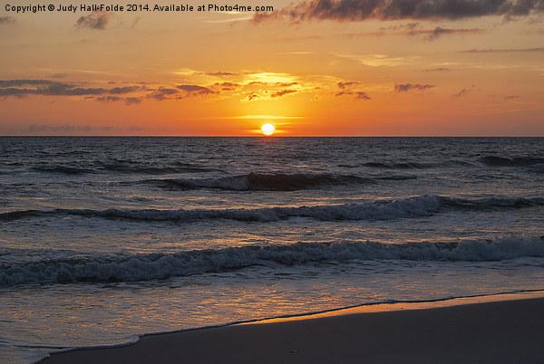 Beautiful Gulf Sunset Canvas print by Judy Hall-Folde