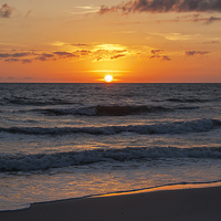 Buy canvas prints of  Beautiful Gulf Sunset by Judy Hall-Folde