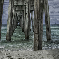 Buy canvas prints of Pier Pressure by Judy Hall-Folde