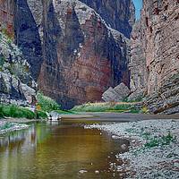 Buy canvas prints of Rio Grande at Santa Elena Canyon by Judy Hall-Folde