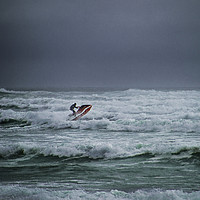 Buy canvas prints of Shooting the Surf by Judy Hall-Folde