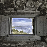 Buy canvas prints of South View from Fort Matanzas by Judy Hall-Folde