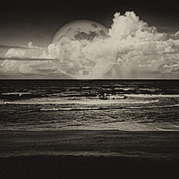 Buy canvas prints of Mystic Moon in Sepia by Judy Hall-Folde