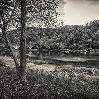 Buy canvas prints of Sleepy River by Judy Hall-Folde