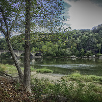 Buy canvas prints of Easy Peaceful River by Judy Hall-Folde
