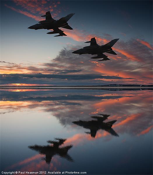 Tornado GR4 sunset Canvas print by Paul Heasman