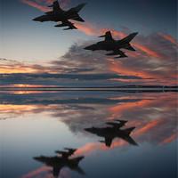 Buy canvas prints of Tornado GR4 sunset by Paul Heasman