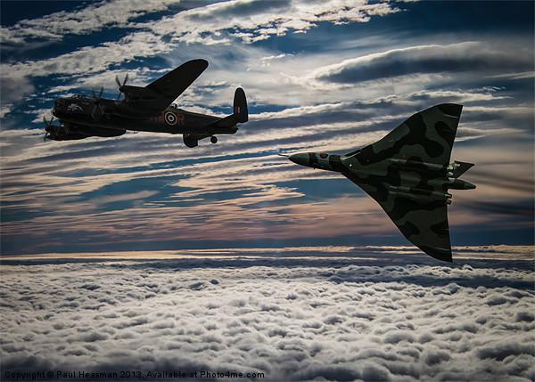 Vulcan and Lancaster Canvas print by Paul Heasman