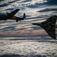 Buy canvas prints of Vulcan and Lancaster by Paul Heasman