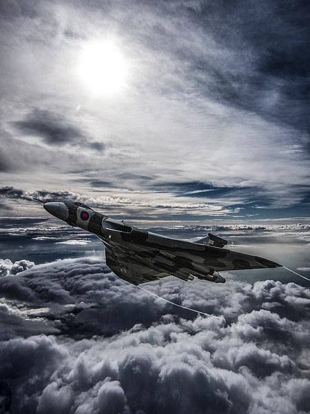 Vulcan Bomber Canvas print by Paul Heasman
