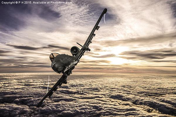 A-10 Thunderbolt II Framed Print by P H
