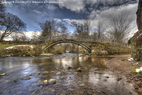 Beckfoot Bridge Print by nick hirst