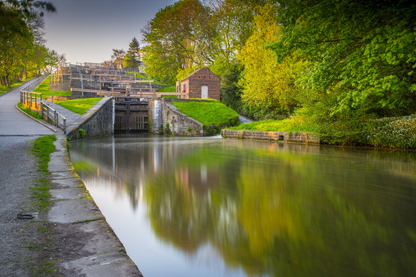 Bingley Five Rise Locks Canvas Print by nick hirst